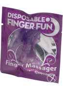 Disposable Finger Fun Finger Massager Waterproof Purple 24...