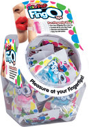 Color Pop Quickie Fing O Tips Fingertip Vibes Bowl Display...