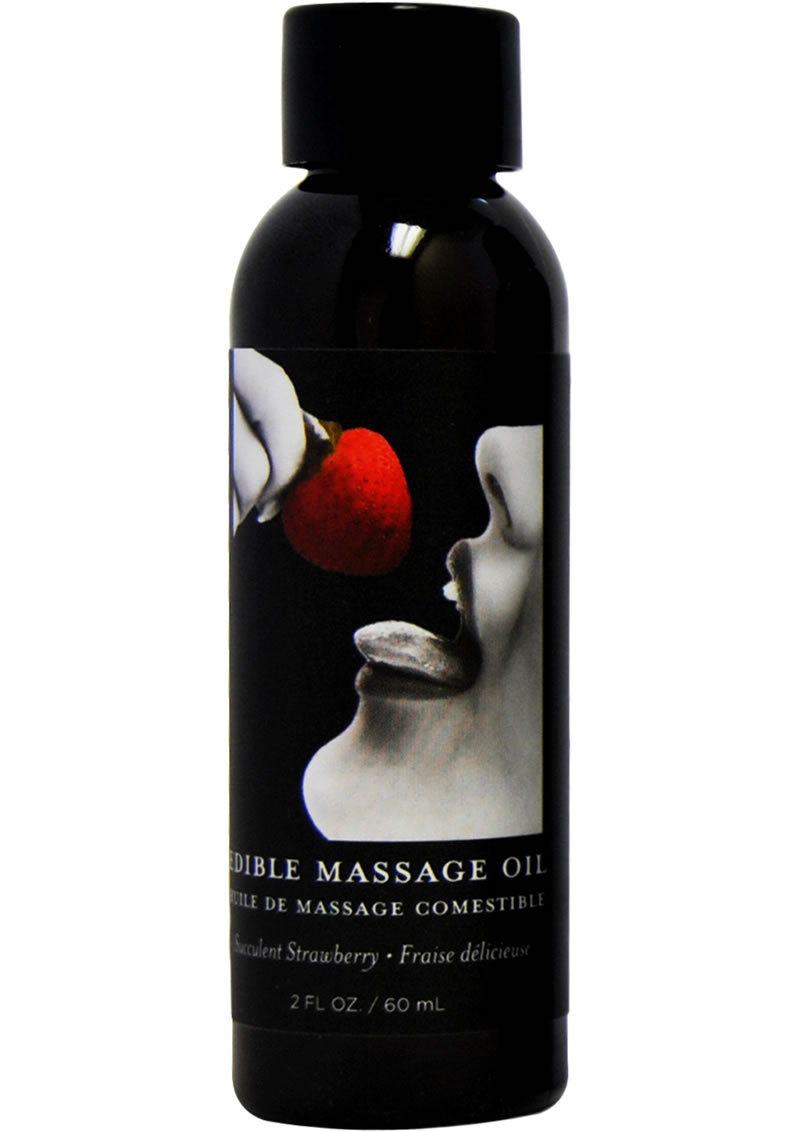 Edible Massage Oil Strawberry 2 Ounce